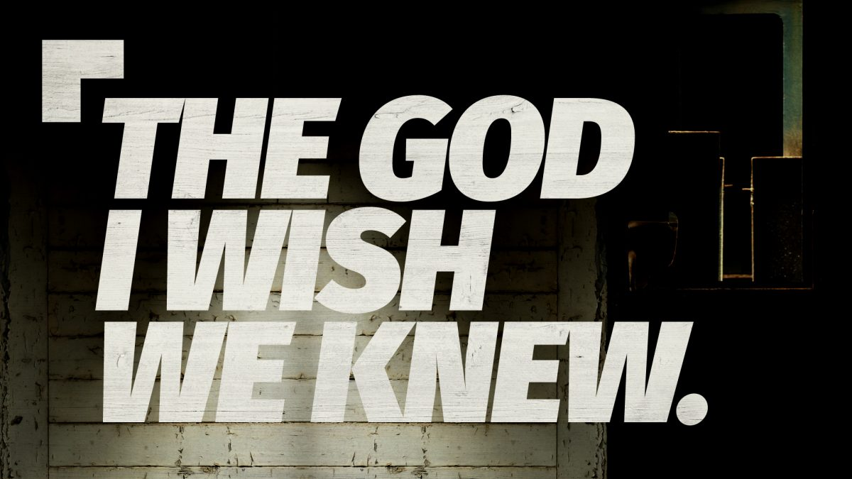 The God I Wish We Knew – Week 4 – God Created Us for Community